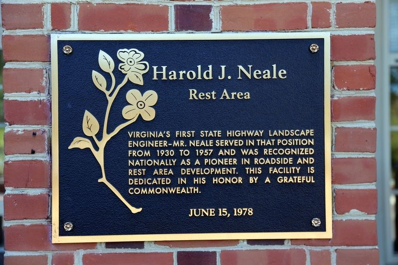 Harold J. Neale Rest Area Marker image. Click for full size.