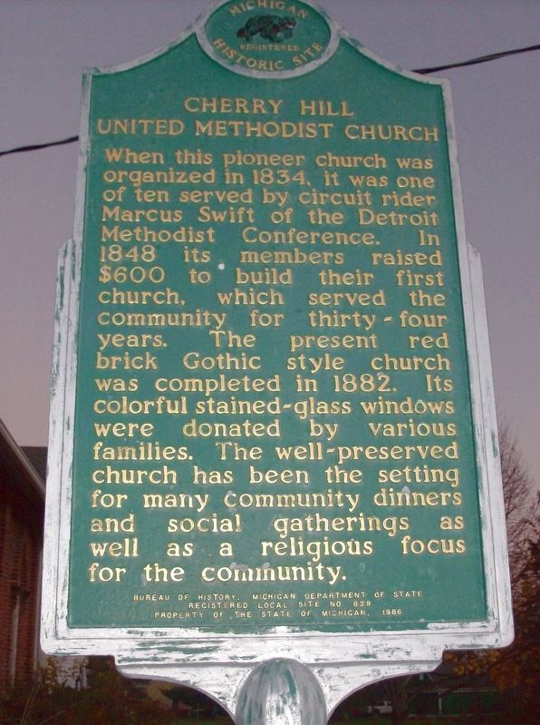 Cherry Hill United Methodist Church Marker image. Click for full size.