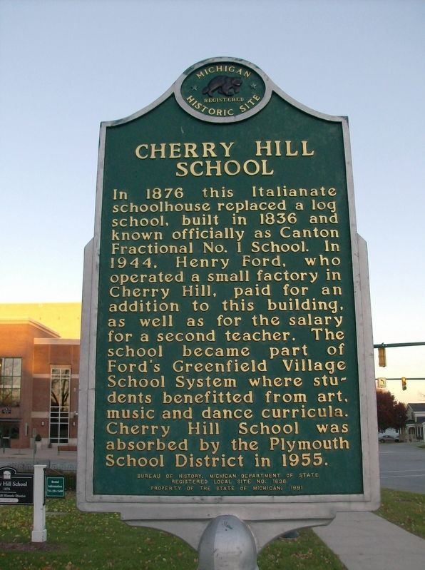 Cherry Hill School Marker image. Click for full size.