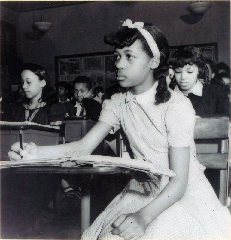 Students at Banneker Junior High School, 1942 image. Click for full size.