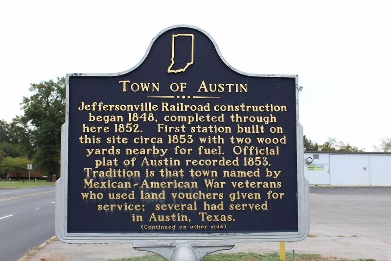 Town of Austin Marker (Side 1) image. Click for full size.