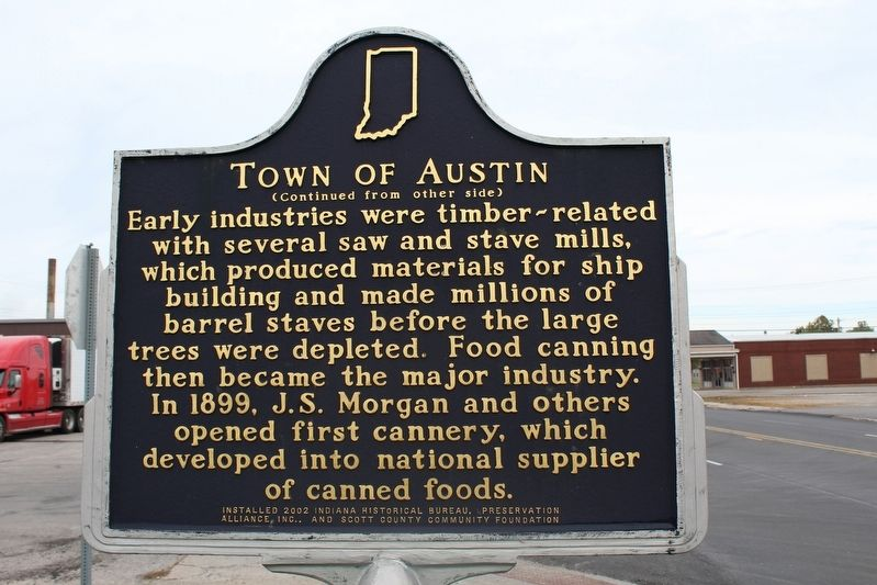 Town of Austin Marker (Side 2) image. Click for full size.