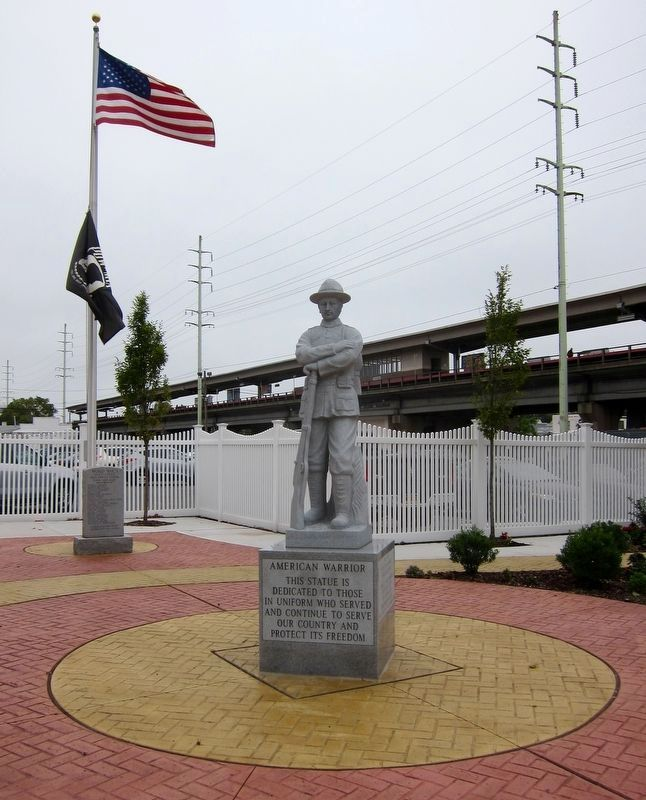 American Warrior (Copiague World War I Memorial) Marker - First Panel image. Click for full size.