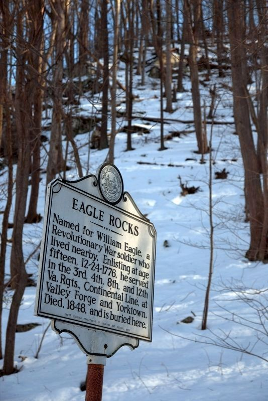 Eagle Rocks Marker on a Cold Sunny Day image. Click for full size.