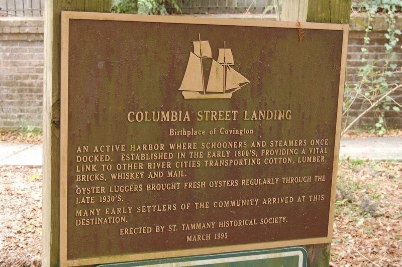 Columbia Street Landing Marker image. Click for full size.