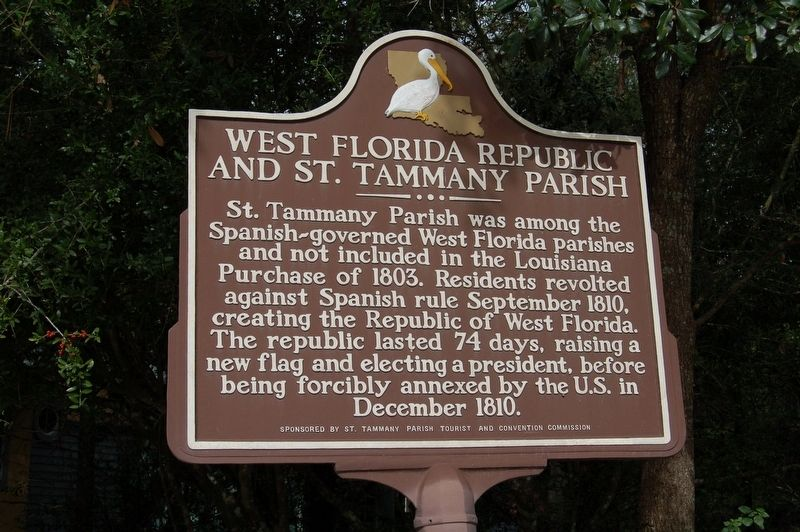 West Florida Republic and St. Tammany Parish Marker image. Click for full size.