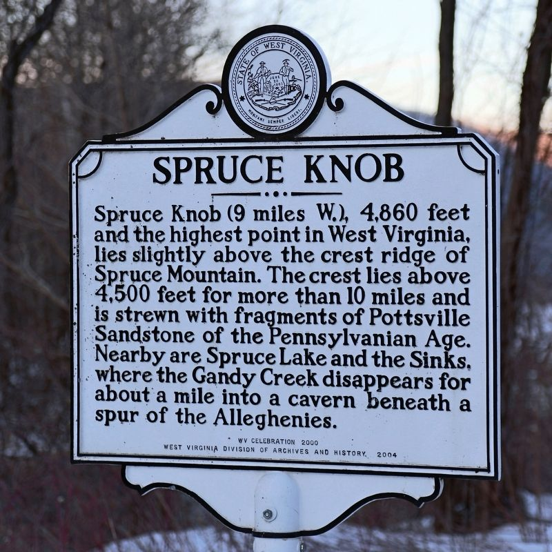 Spruce Knob Marker image. Click for full size.
