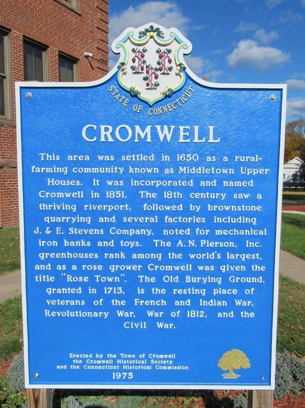 Cromwell Marker image. Click for full size.