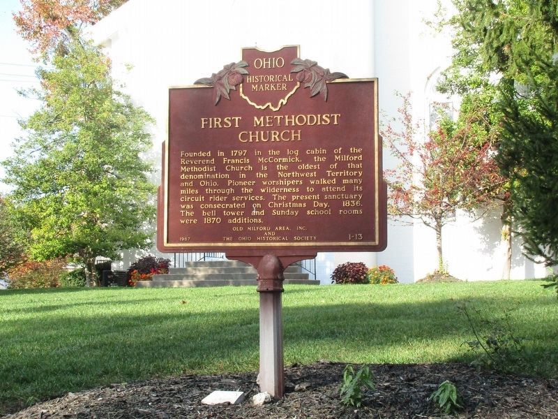 First Methodist Church Marker image. Click for full size.