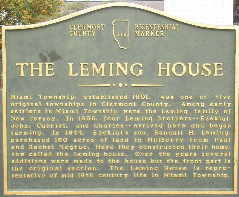 The Leming House Marker image. Click for full size.