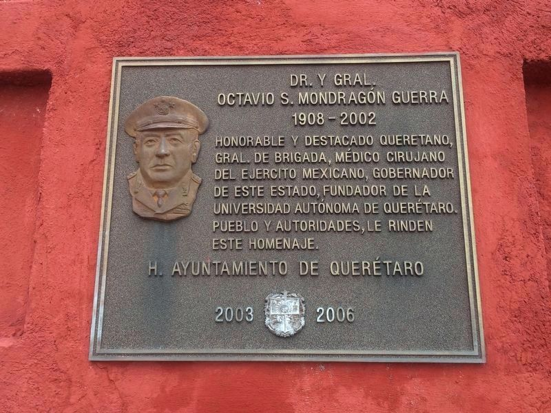 Octavio S. Mondragón Guerra additional marker image. Click for full size.
