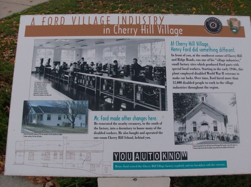 A Ford Village Industry in Cherry Hill Village Marker image. Click for full size.