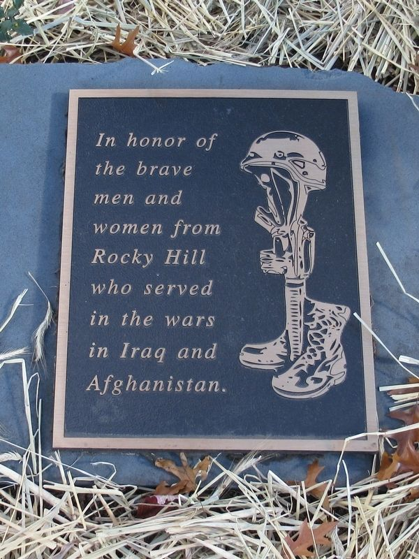 Rocky Hill Iraq Afghanistan Veterans Monument image. Click for full size.