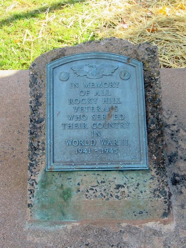Rocky Hill World War II Veterans Monument image. Click for full size.
