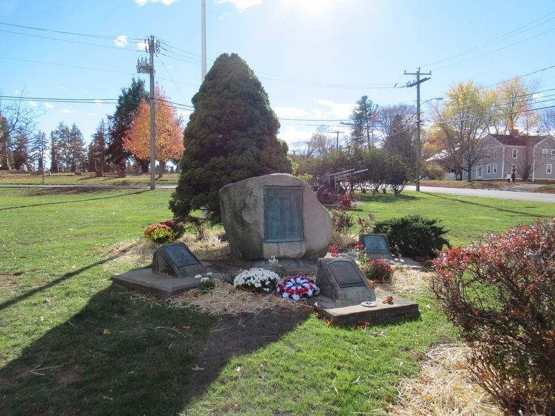 Rocky Hill Veterans Monuments image. Click for full size.