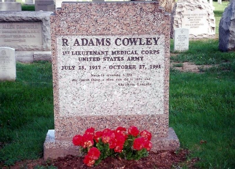 R Adams Cowley Marker-Front image. Click for full size.