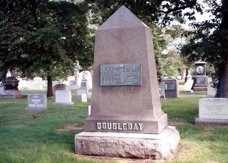 Abner Doubleday Marker-Front image. Click for full size.