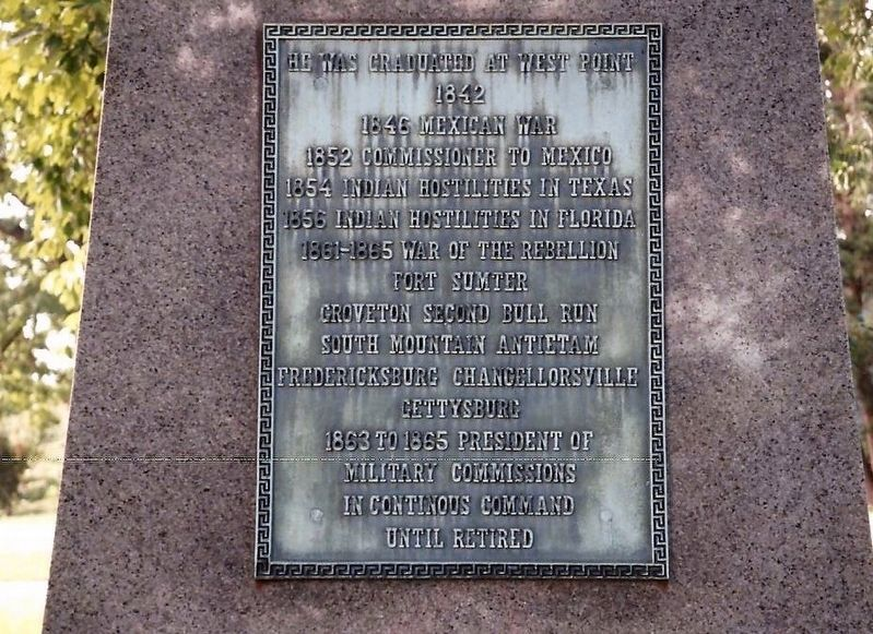 Abner Doubleday Marker-Back image. Click for full size.