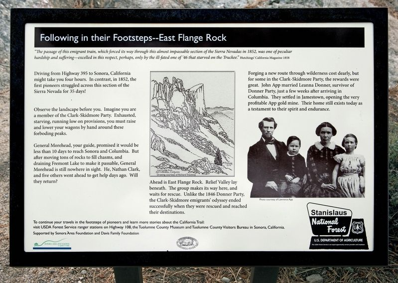 Following in their Footsteps - East Flange Rock Marker image. Click for full size.