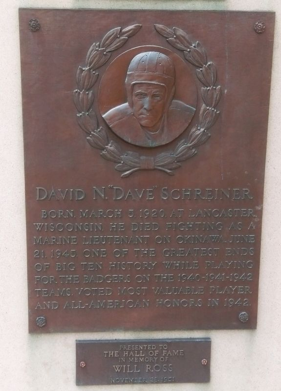 "David N. ""Dave"" Schreiner Marker image. Click for full size."