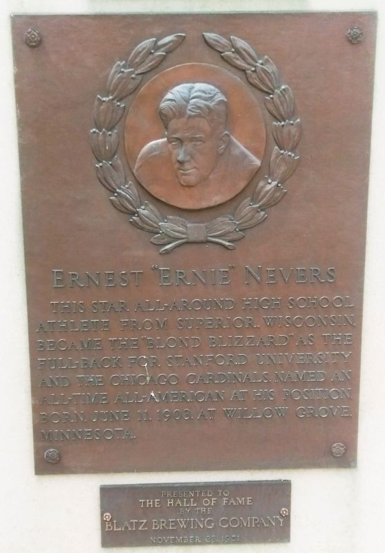 "Ernest ""Ernie"" Nevers Marker image. Click for full size."