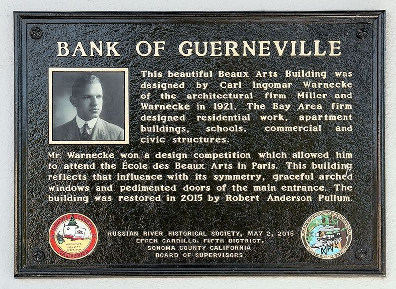 Bank of Guerneville Marker image. Click for full size.