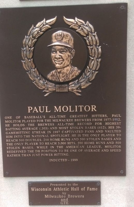 Paul Molitor Marker image. Click for full size.