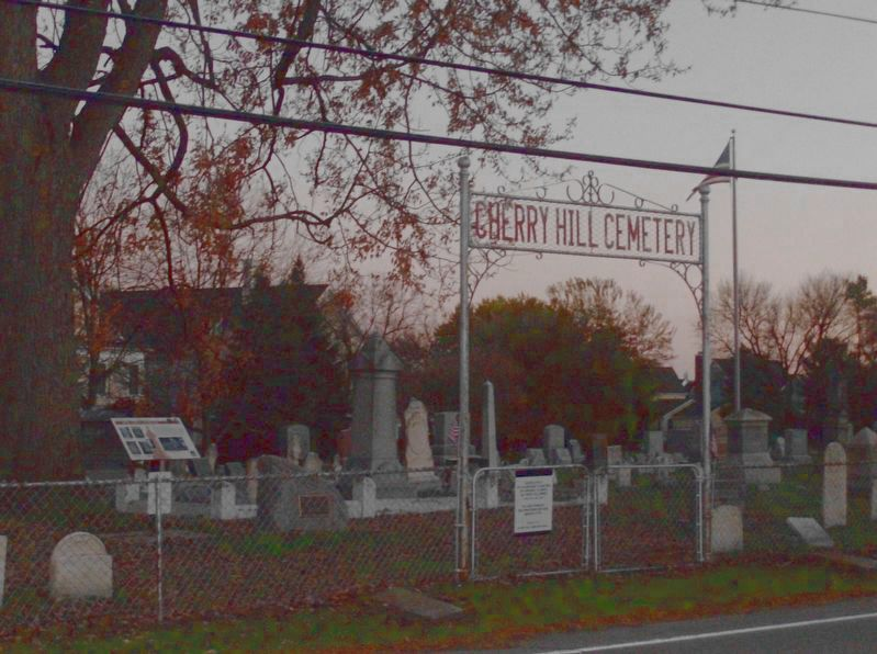 Cherry Hill Cemetery and Marker image. Click for full size.