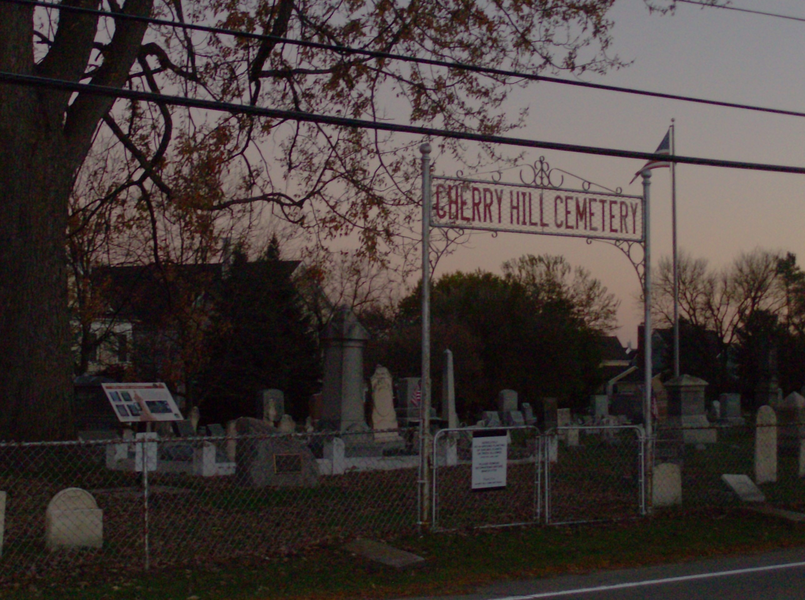 Cherry Hill Cemetery and Marker