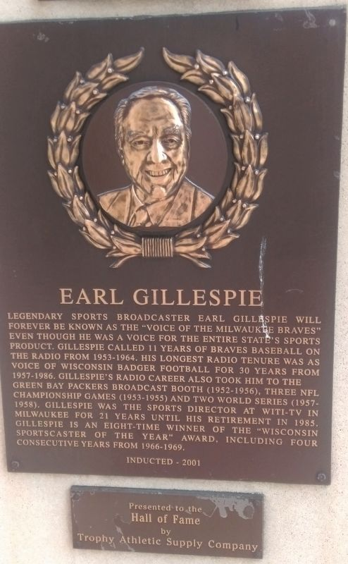 Earl Gillespie Marker image. Click for full size.