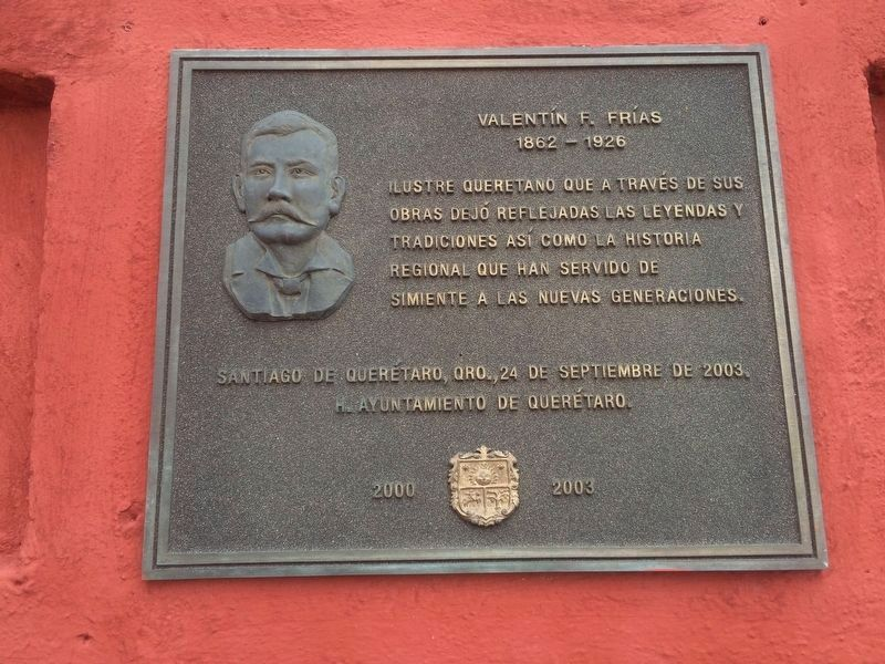 Valentin F. Frías additional marker along the western cemetery wall. image. Click for full size.