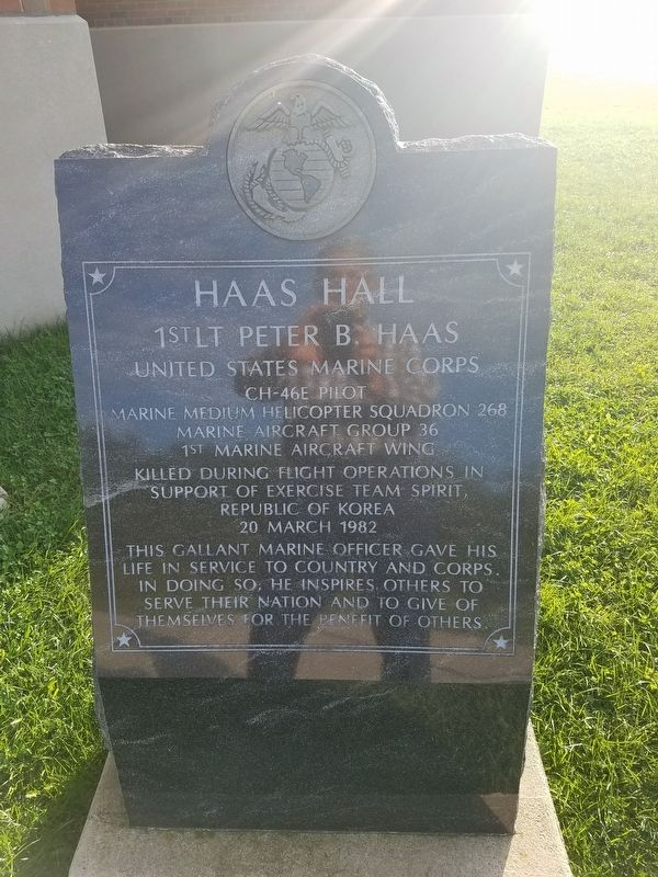 Haas Hall Marker image. Click for full size.