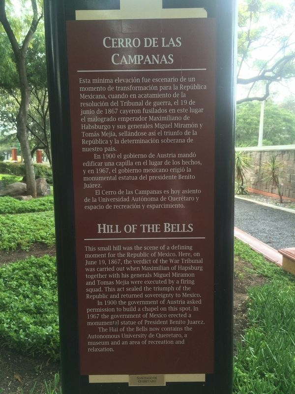 Hill of the Bells Marker image. Click for full size.