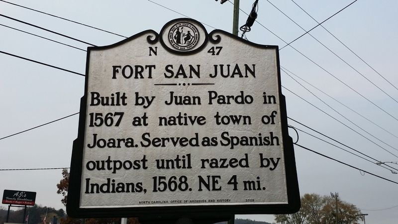 Fort San Juan Marker image. Click for full size.
