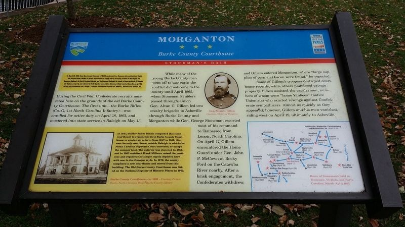 Morganton Marker image. Click for full size.