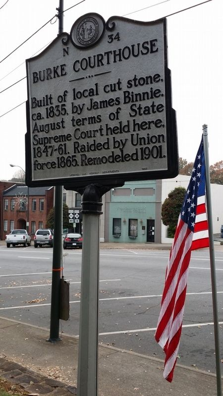 Burke Courthouse Marker image. Click for full size.