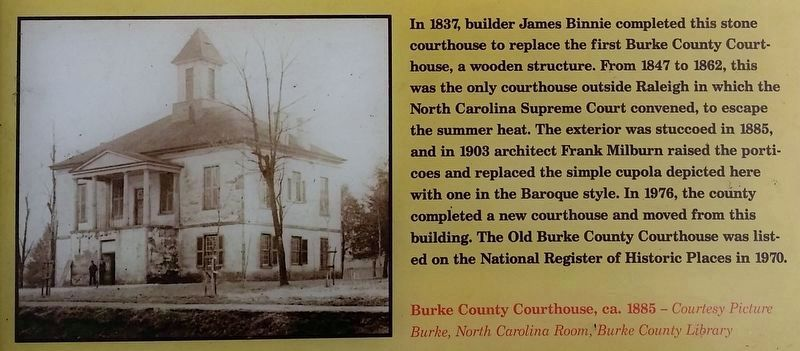 Photo & history from adjacent Morganton Civil War Trails marker image. Click for full size.