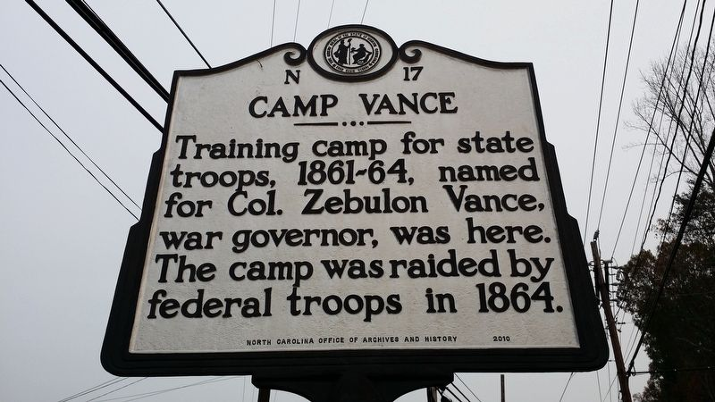 Camp Vance Marker image. Click for full size.