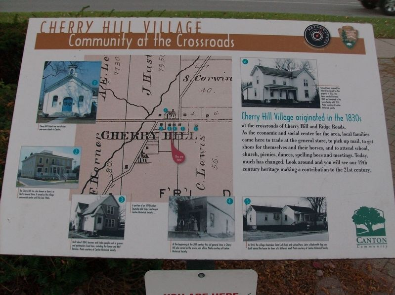 Cherry Hill Village: Community at the Crossroads Marker image. Click for full size.