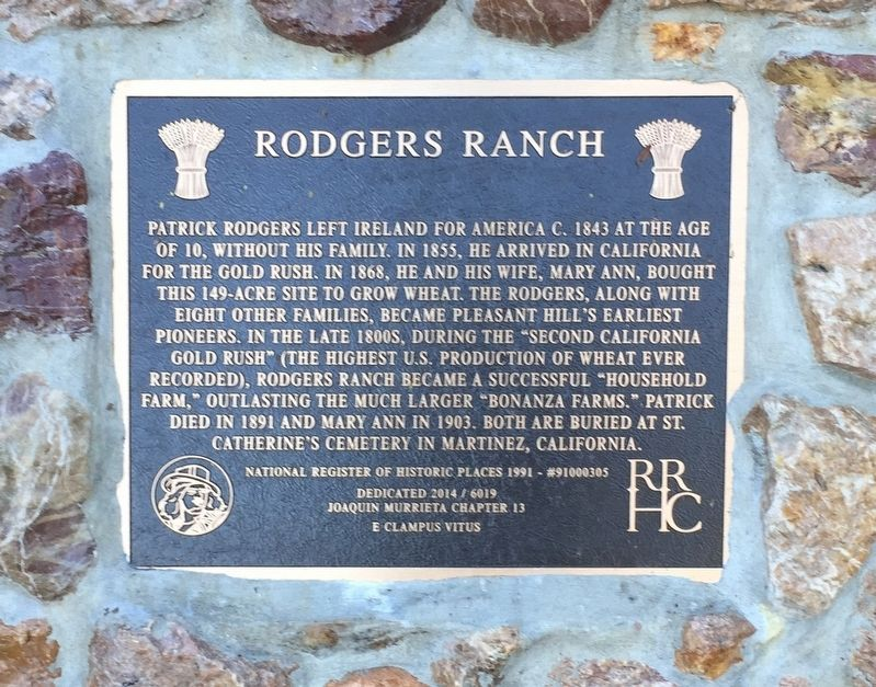 Rodgers Ranch Marker image. Click for full size.