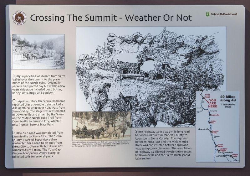Crossing the Summit - Weather or Not Marker image. Click for full size.