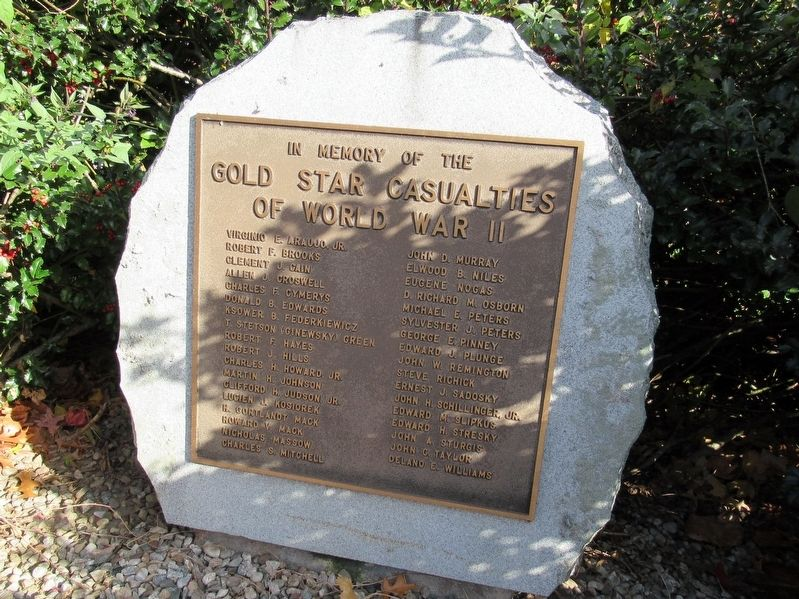 Gold Star Casualties of World War II Marker image. Click for full size.