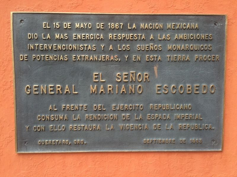An additional General Mariano Escobedo Marker image. Click for full size.