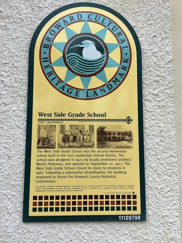 West Side Grade School Marker image. Click for full size.