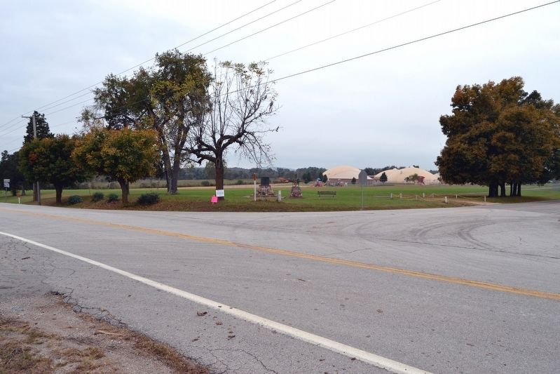 Markers at Intersection of State Highway 21 and Old Route C image. Click for full size.