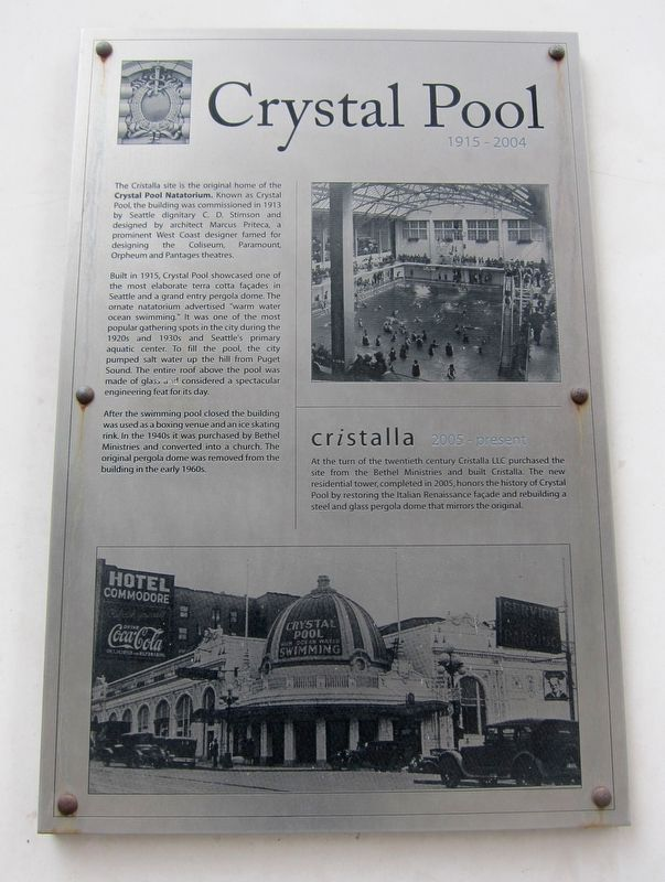 Crystal Pool Marker image. Click for full size.