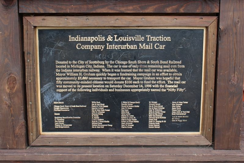 Lake Iola Interurban Site Marker image. Click for full size.