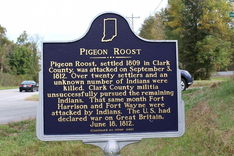Pigeon Roost Marker (Side 1) image. Click for full size.