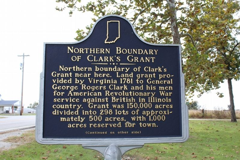 Northern Boundary of Clark's Grant Marker (Side 1) image. Click for full size.