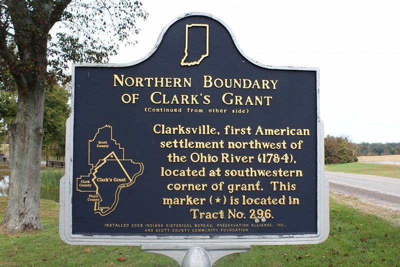 Northern Boundary of Clark's Grant Marker (Side 2) image. Click for full size.